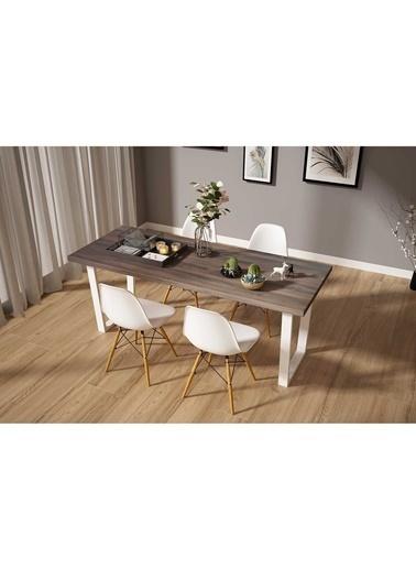 Woodesk Hayal Masif Venge Renk 200x80 Sandalyeli Masa Takımı CPT7341-200 Kahve
